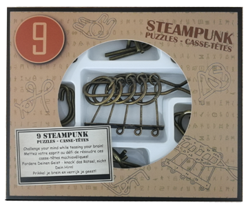 9 Steampunk Puzzles *-**** (brown box)