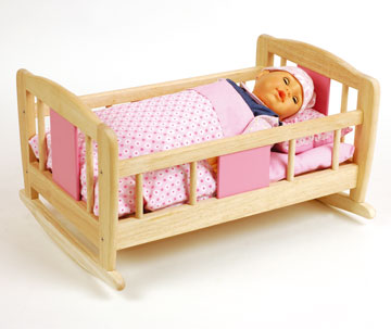 Doll's Rocking Cradle