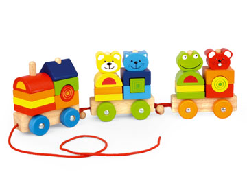Four Friends Stacking Train