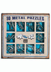 10 Metal Puzzles -blue set-