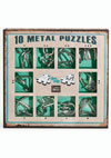 10 Metal Puzzles -green set