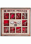 10 Metal Puzzles -red set-