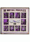 10 Metal Puzzles -purple set-