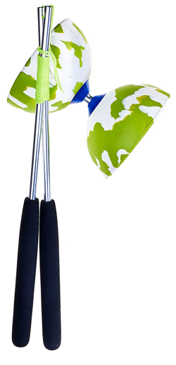 Green/white Diabolo Acrobat 100 -set-