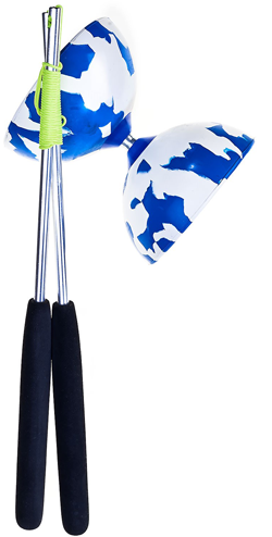Blue/white Diabolo Acrobat 100 -set-